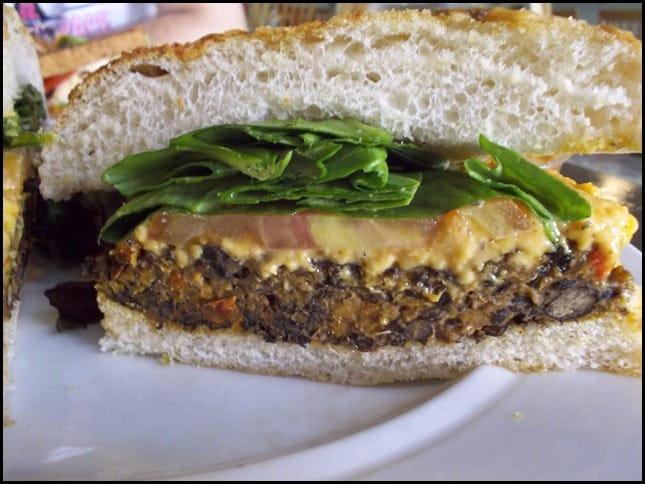 The Floridian Black Bean Sweet Potato burger