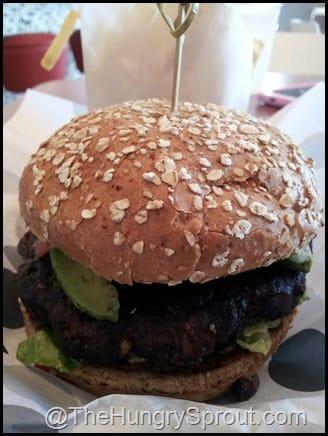 Black Bean Burger at burger 21