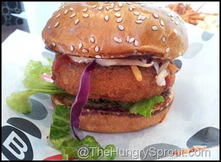 Shrimp Thia Burger at Burger 21