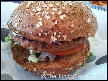 Greek Veggie Burger at Burger 21