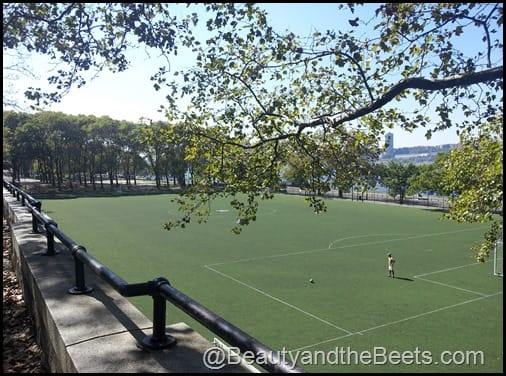 Soccer fields at Riverside Park NYC