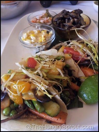 Vegetable Tacos Rosa Mexicano