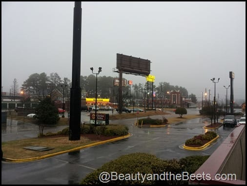 Augusta rainy morning