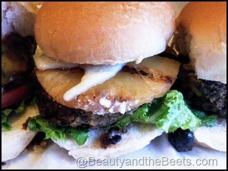 Hawaiian Bean Burger Slider