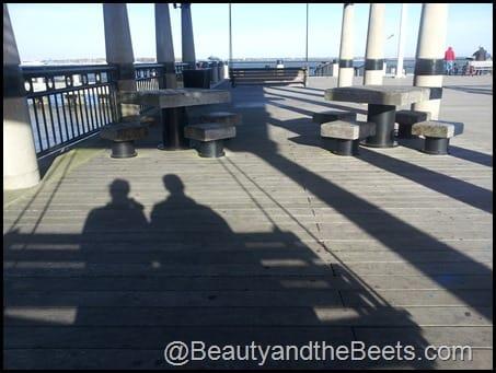 Swings on the pier