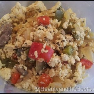 Scrambled Tofu with Peppers and Mushrooms