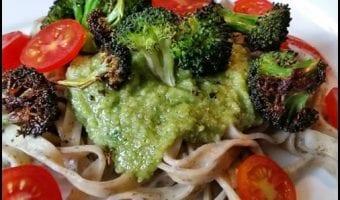 Broccoli Pesto Fettuccine