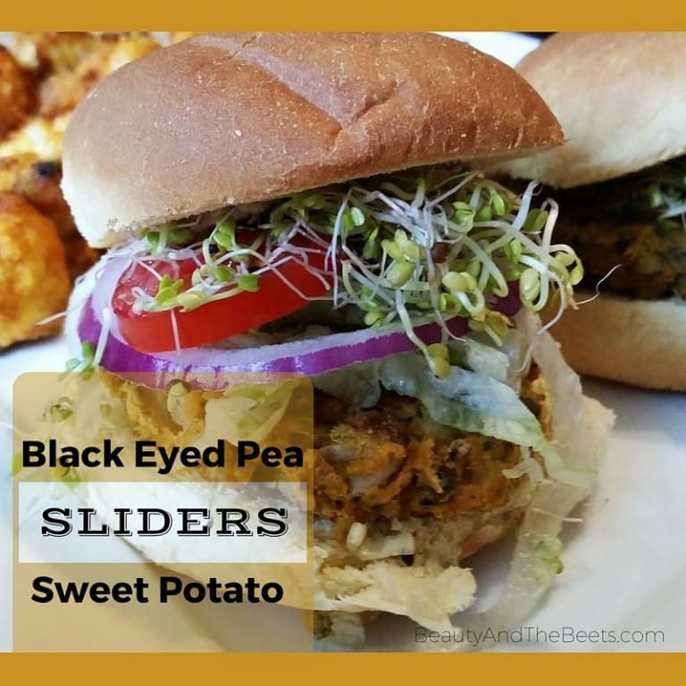 Black Eyed Pea Sweet Potato Sliders Beauty and the Beets recipe