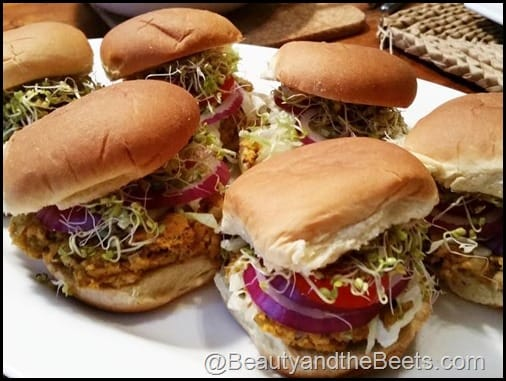 Sweet Potato Black Eyed Peas Sliders