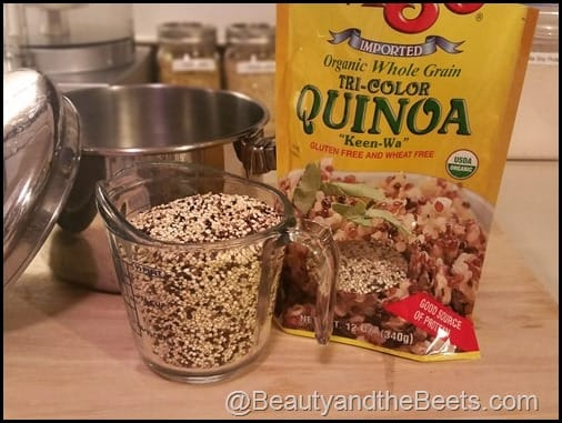 Quinoa Breakfast Fruit Bowl Beauty and the Beets