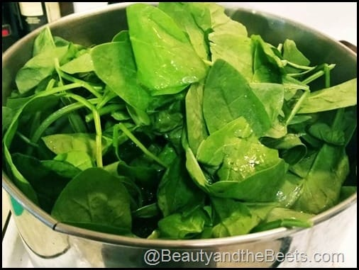 Add Spinach to Soup Beauty and the Beets
