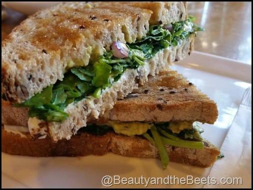 Goat cheese, Avocado and Watercress Sandwich CIA