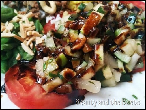 Pear Cucumber Salad with Balsamic Glaze Beauty and the Beets