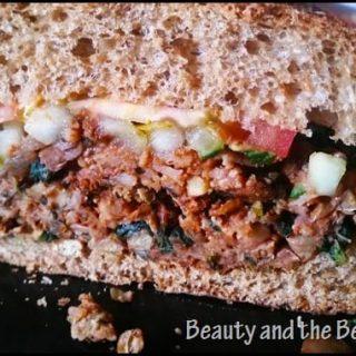 Walnut and Lentil Veggie BurgersPear, Apple and Cucumber Salsa