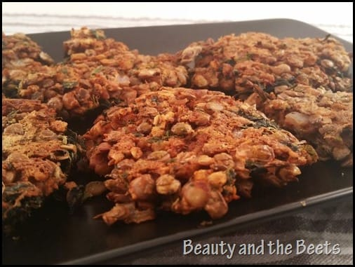 Walnut Lentils Burger patties Beauty and the Beets