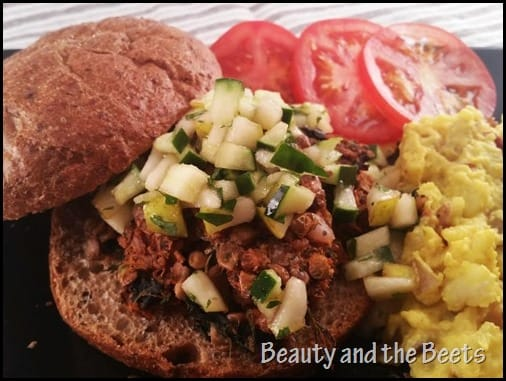 Walnut Lentils Veggie Burger Beauty and the Beets