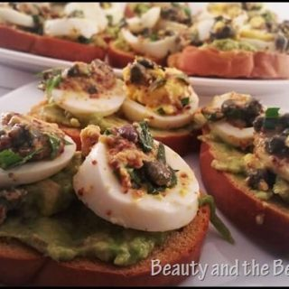 Egg Gribiche on Avocado Toast