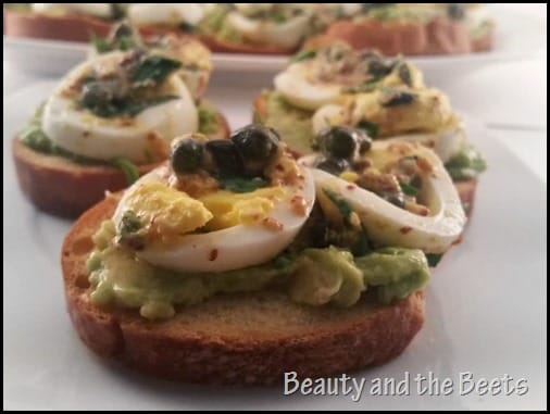 Egg Gribiche on Avocado Toast for Brunch Beauty and the Beets