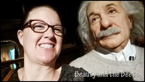 Albert Einstein Madame Tussauds Beauty and the Beets