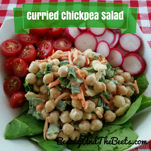 Curried Chickpea Salad Beauty and the Beets