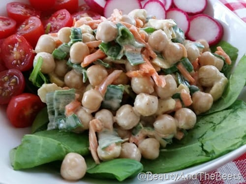 Curried Chickpea Salad Meatless Monday Beauty and the Beets