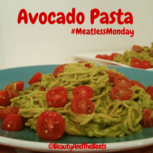 Avocado Pasta Meatless Monday Beauty and the Beets