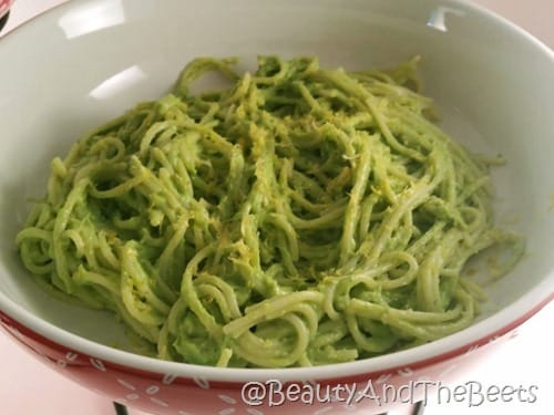 Avocado Pasta with Lemon Zest Beauty and the Beets