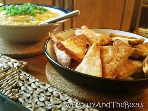 Pita Garlic and Sweet Corn Hummus Beauty and the Beets
