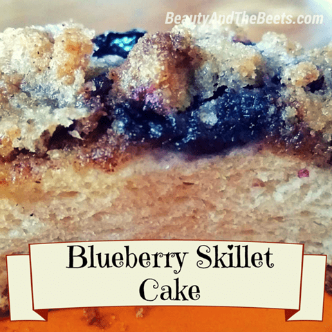 Blueberry Skillet Cake Beauty and the Beets