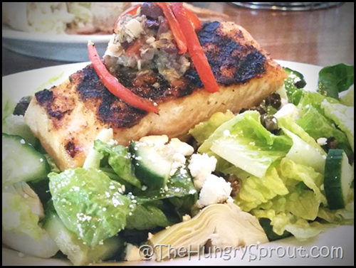 Crafted Block and Brew Greek Salmon Salad Beauty and the Beets