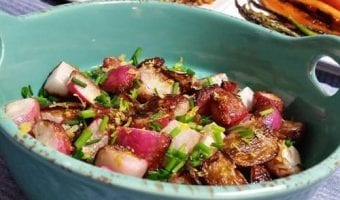 Pan Roasted Radishes with Lemon and Chives