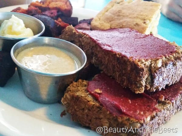 Lentil Loaf Tahini Mustard Dressing Counter Culture Beauty and the Beets