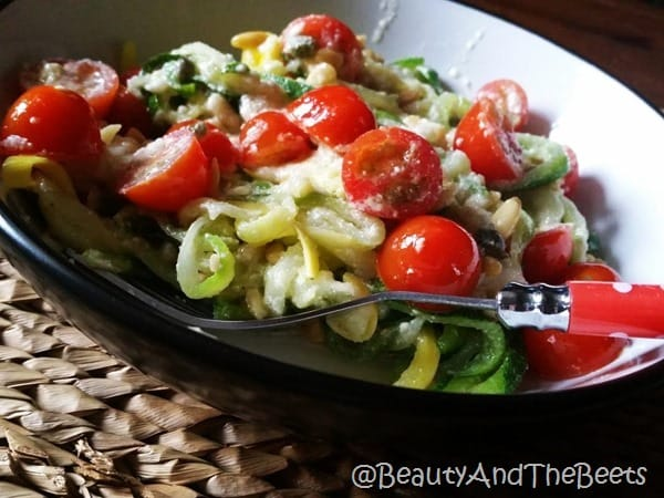 Zucchini noodles Beauty and the Beets