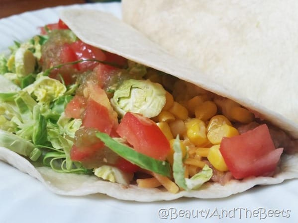 Beans and Veggie Tacos Beauty and the Beets