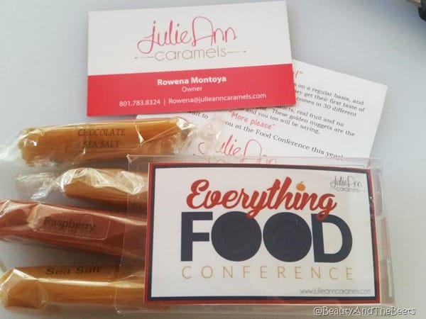 JulieAnn Caramels Everything Food conference Beauty and the Beets