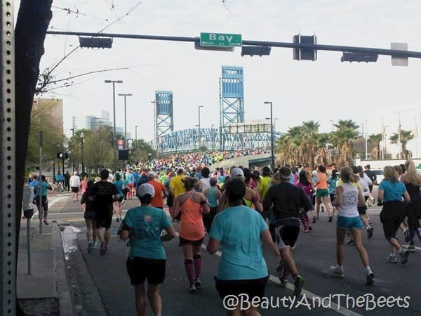 Gate River Run 2016 Main Street approach Bridge Beauty and the Beets