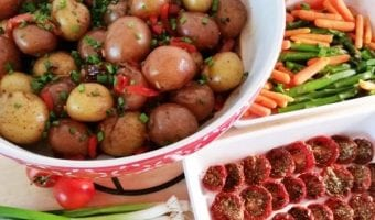 Balsamic Potatoes, Steamed Veggie Dinner and a Publix Gift Card Giveaway