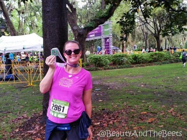 Publix Savannah Womens Half Marathon medal Beauty and the Beets