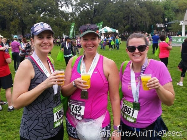 Publix Savannah Womens Half Marathon mimosas and juice Beauty and the Beets