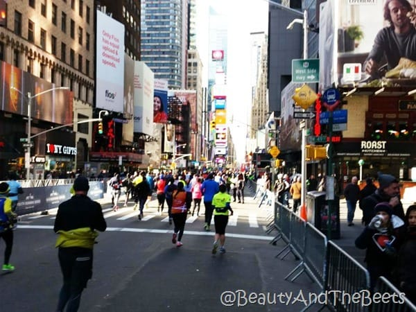 Times Square United Airlines NYC Half Beauty and the Beets