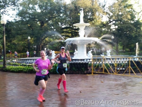 fountain Publix Savannah Womens Half Marathon Beauty and the Beets