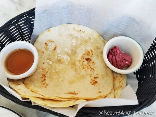 Grilled tortilla Ocho San Antonio Beauty and the Beets
