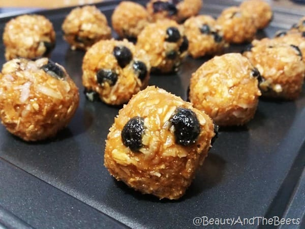 Maple Blueberry Oatmeal Balls Beauty and the Beets