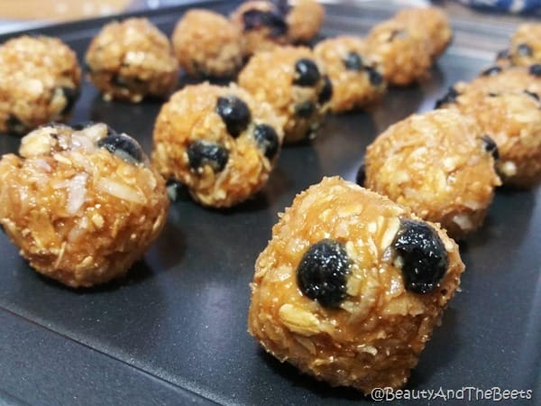 Maple Blueberry Oatmeal Energy Bites Beauty and the Beets