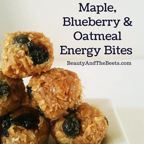 Maple Blueberry Oatmeal Energy Bites recipe Beauty and the Beets