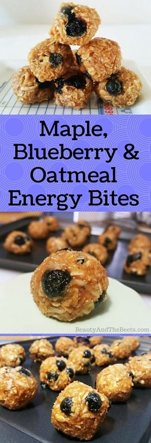 Maple, Blueberry & Oatmeal Energy Bites recipe by Beauty and the Beets