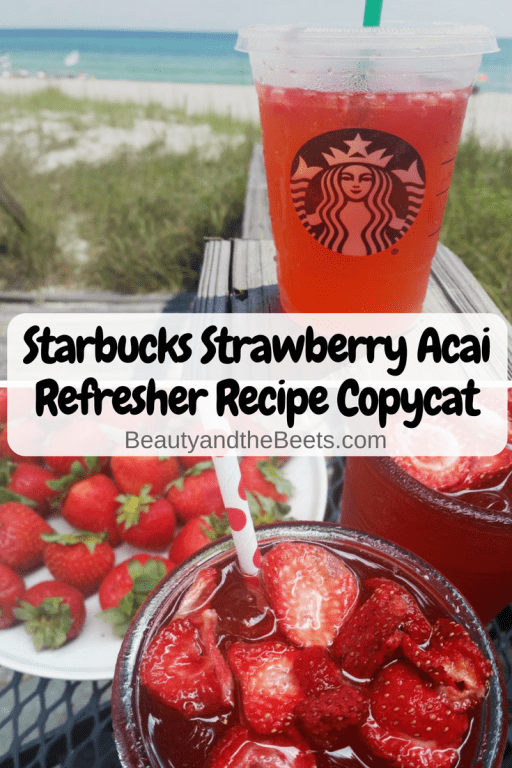 Diy Starbucks Strawberry Acai Refresher Recipe Beauty And The Beets