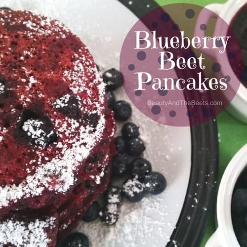 Blueberry Beet Pancakes by Beauty and the Beets recipe
