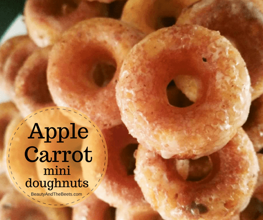 Beauty and the Beets Foodstirs Apple Carrot Doughnuts