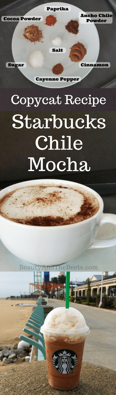 Copycat Recipe Starbucks Chile Mocha by Beauty and the Beets